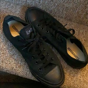 Like new women's black converse
